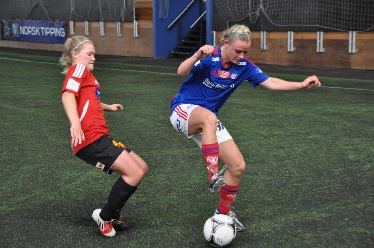 Tapte: Vålerenga damer tapte 1-4 mot Røa søndag kveld. Her fra en tidligere kamp mot Kolboten.