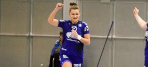 Amanda Kurtovic jubler for scoring mot Skrim. Foto: Andreas Kristoffer Berge