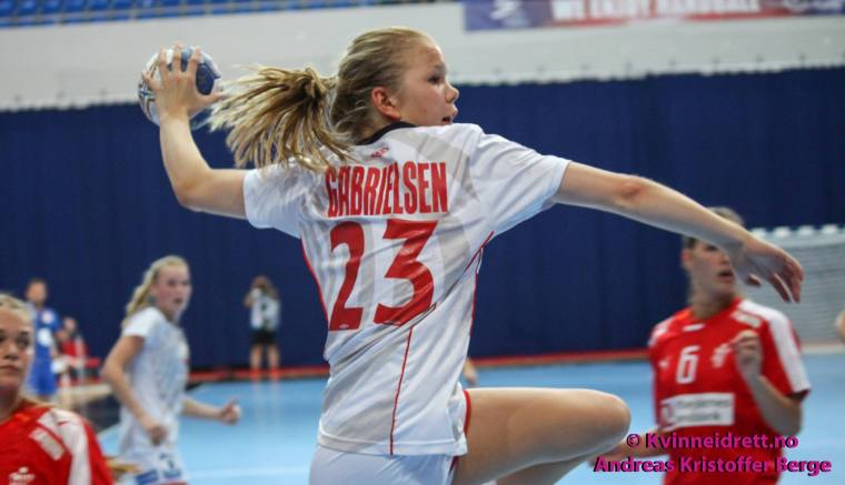 Gabrielsen under U18-VM i sommer.